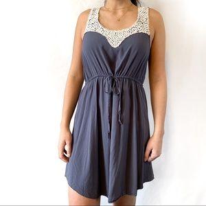 Blue Crochet Detail Dress by Ya Los Angeles